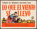 "Movie Posters:Academy Award Winners, Gone with the Wind (MGM, R-1947). Spanish Language Title Lobby Card(11"" X 14""). Academy Award Winners.. ..."
