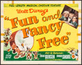 "Movie Posters:Animation, Fun and Fancy Free (RKO, 1947). Half Sheet (22"" X 28"") Style B.Animation.. ..."