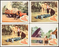 """Movie Posters:Science Fiction, Earth vs. the Flying Saucers (Columbia, 1956). Lobby Cards (4) (11""""X 14""""). Science Fiction.. ... (Total: 4 Items)"""
