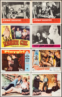 """Pickup & Others Lot (Columbia, 1951). Lobby Cards (8) (11"""" X 14""""). Bad Girl. ... (Total: 8 Items)"""