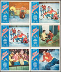 "Movie Posters:Sports, White Lightning (Allied Artists, 1953). Lobby Cards (6) (11"" X 14""). Sports.. ... (Total: 6 Items)"