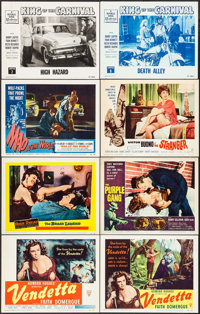 """Vendetta & Others Lot (RKO, 1950). Title Lobby Card & Lobby Cards (7) (11"""" X 14""""). Crime. ... (Total:..."""