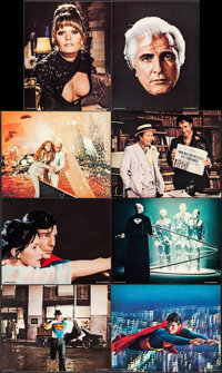 """Superman the Movie & Other Lot (Warner Brothers, 1978). Deluxe Lobby Cards (8) (11"""" X 14"""") & Magazine..."""
