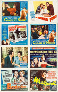 """Movie Posters:Crime, Borderline & Others Lot (Universal International, 1950). TitleLobby Cards (4) & Lobby Cards (4) (11"""" X 14""""). Crime.. ...(Total: 8 Items)"""
