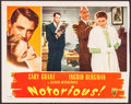 """Movie Posters:Hitchcock, Notorious (RKO, 1946). Trimmed Lobby Card (11"""" X 13.25""""). Hitchcock.. ..."""