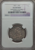 Bust Quarters, 1821 25C B-4, R.3, -- Improperly Cleaned -- NGC Details. AU....