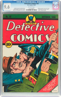 Detective Comics #32 (DC, 1939) CGC NM+ 9.6 Off-white pages