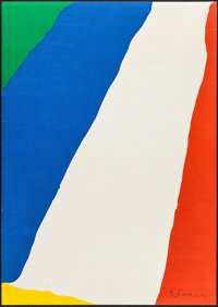 "Helen Frankenthaler (Chiron Press, 1967). Autographed & Numbered Limited Edition Poster (18"" X 25.5""). Mis..."