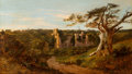 Fine Art - Painting, European:Antique  (Pre 1900), Edmund John Niemann (British, 1813-1876). Herstmonceaux Castle,Sussex. Oil on canvas. 22 x 38 inches (55.9 x 96.5 cm). ...