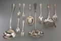 Silver Flatware, American, A Sixty-Four Piece Group of Assorted Sterling Silver andSilver-Plated Flatware, 19th-20th centuries. Marks: (various). 14i...
