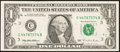 Error Notes:Ink Smears, Fr. 1921-C $1 1995 Federal Reserve Note. Choice AboutUncirculated.. ...