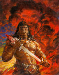Original Comic Art:Covers, Doug Beekman Conan the Savage #2 Cover Painting Original Art(Marvel, 1995)....