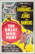 "Movie Posters:Thriller, The Great Manhunt (Columbia, 1950). One Sheet (27"" X 41""). Thriller.. ..."