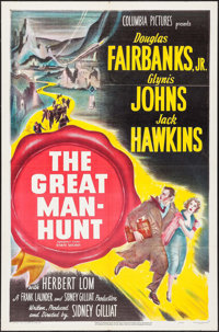 """The Great Manhunt (Columbia, 1950). One Sheet (27"""" X 41""""). Thriller"""