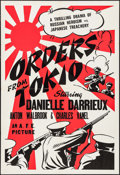 "Movie Posters:War, Orders from Tokio (AFE, 1941). One Sheet (27"" X 41""). War.. ..."