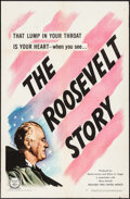 "Movie Posters:Documentary, The Roosevelt Story (United Artists, 1948). One Sheet (27"" X 41"")& Lobby Card Set of 8 (11"" X 14""). Documentary.. ... (Total: 9Items)"