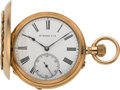 "Timepieces:Pocket (pre 1900) , Hy. Moser Very Fine ""Qualite Salter"" Gold Hunter Case, circa 1895...."