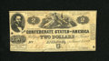 Confederate Notes:1862 Issues, T42 $2 1862. Judah P. Benjamin was a Yale graduate, class of 1828.This example has six pinholes. Fine....