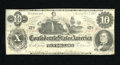 Confederate Notes:1862 Issues, T46 $10 1862. This bright example features the S after the wordMonths. Two CC's have been expertly covered over by what loo...