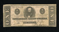 Confederate Notes:1862 Issues, T55 $1 1862. A couple of minor pinholes are noted on this exampleof a very popular denomination. Very Good....