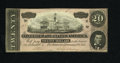 Confederate Notes:1864 Issues, T67 $20 1864. If one is looking for an XF or AU note, this one should be considered. A couple of folds near the edges accoun...