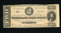 Confederate Notes:1864 Issues, T70 $2 1864. A tight bottom margin and some light handling keep this from a higher grade, but we still must say this is an e...