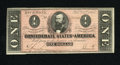 Confederate Notes:1864 Issues, T71 $1 1864.This two-fold Extremely Fine is most pleasing and wholly original....