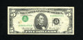 Error Notes:Inverted Third Printings, Fr. 1973-K $5 1974 Federal Reserve Note. Inverted Third Printing.This attractive error is lightly circulated but wholly ori...