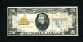 Small Size:Gold Certificates, Fr. 2402 $20 1928 Gold Certificate. Very Fine.. This clean example has several folds present with a small amount of soiling ...