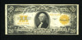 Large Size:Gold Certificates, Fr. 1187 $20 1922 Gold Certificate Very Fine-Extremely Fine. A lovely gold certificate that has sizeable margins, crisp pape...