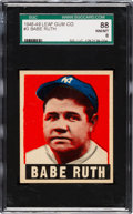 Baseball Cards:Singles (1940-1949), 1948 Leaf Babe Ruth #3 SGC 88 NM/MT 8....