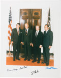 Miscellaneous Collectibles:General, 1980's Presidents Ronald Reagan, Gerald Ford, Jimmy Carter &Richard Nixon Signed Oversized Photograph. ...