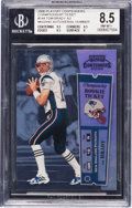 Football Cards:Singles (1970-Now), 2000 Playoff Contenders Championship Ticket Tom Brady #144 BGSNM-MT+ 8.5 - The Only Known Error Card. ...