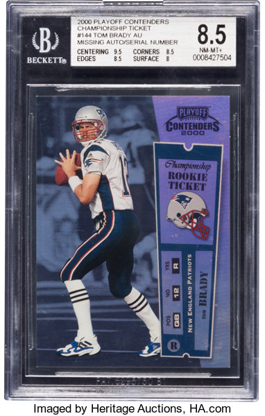 2000 Playoff Contenders Championship Ticket Tom Brady 144