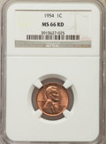 Lincoln Cents: , 1954 1C MS66 Red NGC. NGC Census: (925/17). PCGS Population: (550/6). Mintage 71,873,352. ...