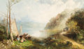 Fine Art - Painting, American:Antique  (Pre 1900), Andrew Melrose (American, 1826-1901). Anthony's Nose on theHudson, Highlands. Oil on canvas. 30 x 50-1/4 inches (76.2 x...