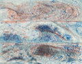 Fine Art - Work on Paper:Print, Pat Steir (American, b. 1938). The Wave from the Sea (afterLeonardo, Hokusai & Courbet), 1985. Etching and aquatint in...