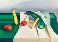 Fine Art - Painting, American:Contemporary   (1950 to present)  , Louisa Matthiasdottir (American, 1917-2000). Still Life withSquash and Tomatoes. Oil on canvas. 28 x 40 inches (71.1 x ...