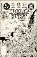 Original Comic Art:Covers, George Perez and Romeo Tanghal World's Finest Comics #278 Cover Original Art (DC, 1982)....