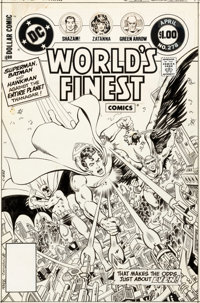 George Perez and Romeo Tanghal World's Finest Comics #278 Cover Original Art (DC, 1982)