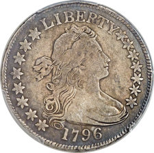 1796 50C 15 Stars, O-101, T-1, R.5 -- Repaired -- PCGS Genuine. VF Details