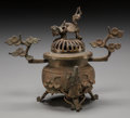 Asian:Japanese, A Japanese Archaic-Style Bronze Censer. 5-3/4 inches high (14.6cm). PROPERTY FROM THE ESTATE OF ADELINE NEWMAN, BEVERLY H...