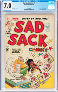Golden Age (1938-1955):Cartoon Character, Sad Sack Comics #1 (Harvey, 1949) CGC FN/VF 7.0 Cream to off-whitepages....