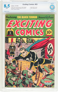 Exciting Comics #33 (Nedor/Better/Standard, 1944) CBCS VF+ 8.5 White pages