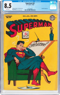 Superman #41 (DC, 1946) CGC VF+ 8.5 White pages