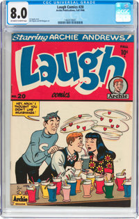 Laugh Comics #20 (Archie, 1946) CGC VF 8.0 Off-white to white pages