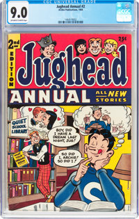 Jughead Annual #2 (Archie, 1954) CGC VF/NM 9.0 Off-white to white pages
