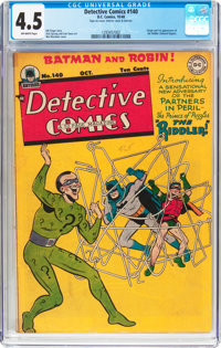 Detective Comics #140 (DC, 1948) CGC VG+ 4.5 Off-white pages