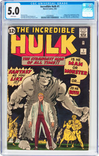 The Incredible Hulk #1 (Marvel, 1962) CGC VG/FN 5.0 White pages
