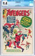 Silver Age (1956-1969):Superhero, The Avengers #6 (Marvel, 1964) CGC NM 9.4 Cream to off-white pages....